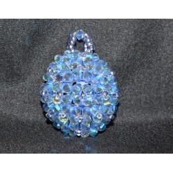 Pendentif cristal Swarovski boule light sapphire ab2x
