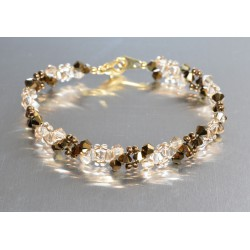 Bracelet fin cristal Swarovski crystal dorado ab2x - crystal golden shadow