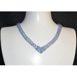 """Collier """"rivière de sapphire"""" cristal de Swarovski light sapphire ab2x"""
