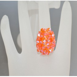 Bague hérisson cristal Swarovski sun ab2x