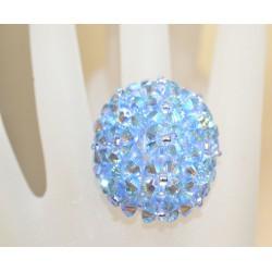Bague cristal Swarovski crystal light sapphire ab2x