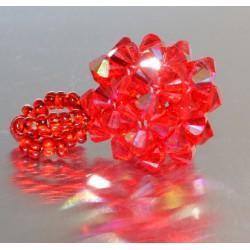 Pendentif cristal Swarovski petit cube light siam ab