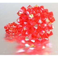 Pendentif cristal Swarovski cube light siam ab satin