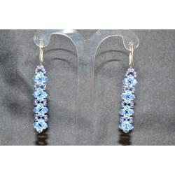 Boucles d'oreille cristal de Swarovski light sapphire ab2x