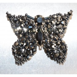 Broche cristal de Swarovski papillon cristal ab2x