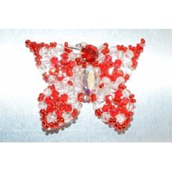 Broche cristal de Swarovski papillon crystal et light siam ab