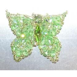 Broche cristal de Swarovski papillon péridot ab