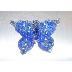 Broche cristal de Swarovski papillon sapphire ab2x