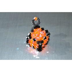 Pendentif cristal Swarovski grand cube hématite 2x-Sun ab2x