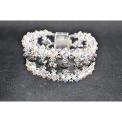 """Bracelet cristal  Swarovski """"Somptueux"""" extra large crystal ab2x et crystal silver night"""