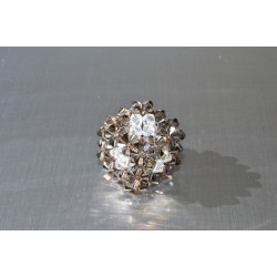 Pendentif cristal Swarovski cube crystal silver night ab2x-crystal moonlight