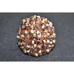 Bague en cristal de Swarovski boule crystal rose gold 2x