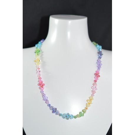 """Collier """"Arc-en-ciel"""" cristal de Swarovski multicolor"""