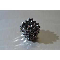 Pendentif cristal Swarovski grand cube hématite 2x