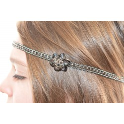 Headband en cristal de Swarovski crystal sylver night