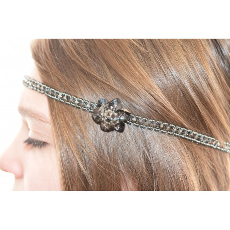 Headband en cristal de Swarovski crystal sylver night
