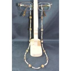 Cordon à lunettes en cristal, golden shadow