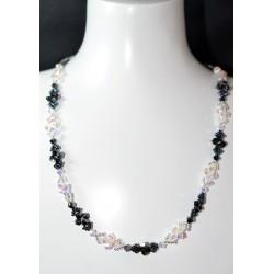 """Collier """"Pile ou Face"""" cristal de Swarovski crystal ab2x et hématite 2x"""
