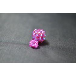 Pendentif cristal Swarovski cube fuschia ab2x