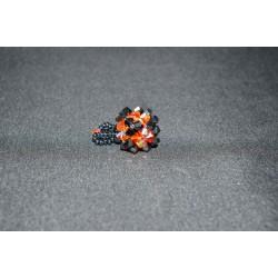 Pendentif cristal Swarovski cube fireopal ab et hématite 2x