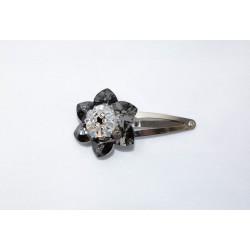Barrette en crystal de Swarovski crystal silver night et crystal moonlight