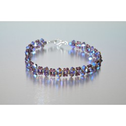 Bracelet cristal Swarovski améthyst ab2x