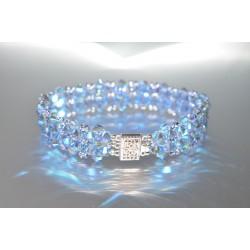 Bracelet cristal  Swarovski light sapphir ab2x