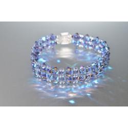 Bracelet cristal  Swarovski tanzanite ab2x