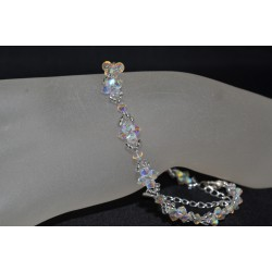 """Bracelet de cheville en cristal de Swarovski """"Iceberg"""" couleur crystal ab2x"""