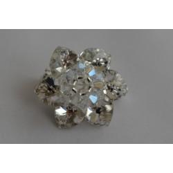 Broche cristal de Swarovski fleur crystal foiled (blanc)