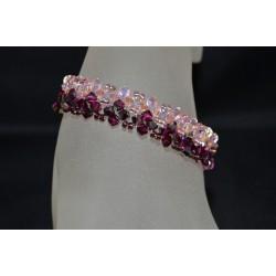 Bracelet cristal, fuschia electra, rosaline
