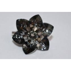 Broche cristal de Swarovski fleur de nuit crystal silver night