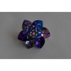 Broche cristal de Swarovski crystal héliotrope et crystal vitrail light