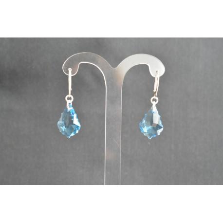 """Boucles d'oreille argent 925 et cristal de Swarovski """"baume au coeur"""""""