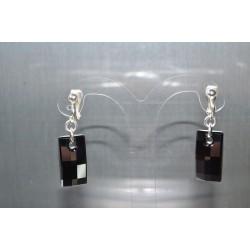 Clip Urban crystal silver night-20 mm pour oreilles non-percées