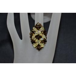 Bague cristal de Swarovski crystal dorado 2x - jonquille ab2x