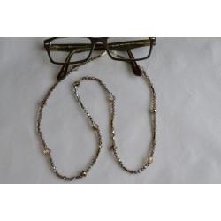 Cordon à lunette en cristal, smoked topaz ab
