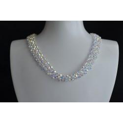 Collier cristal de Swarovski crystal ab2x blanc