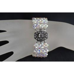 Bracelet cristal  Swarovski extra large crystal ab2x