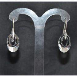 Boucles d'oreilles argent 925 et Hélios cristal de Swarovski light comet argent