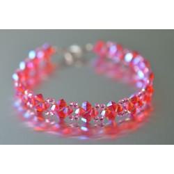 Bracelet cristal Swarovski hyacinth ab2x (rose-orangé)
