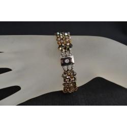 """Bracelet cristal Swarovski manchette """"Couleurs d'automne"""""""