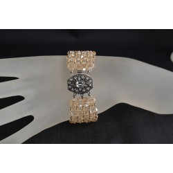 Bracelet cristal  Swarovski extra large crystal golden shadow