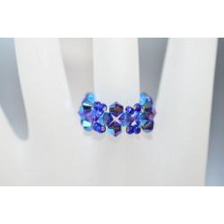 Bague anneau crystal de Swarovski purple velvet ab2x
