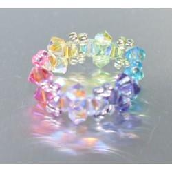 "Bague anneau crystal de Swarovski ""Eté"" multicolor"