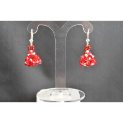 Boucles d'oreille cristal de Swarovski et argent 925 light siam ab
