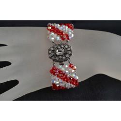 Bracelet cristal  Swarovski extra large crystal ab2x et light siam ab
