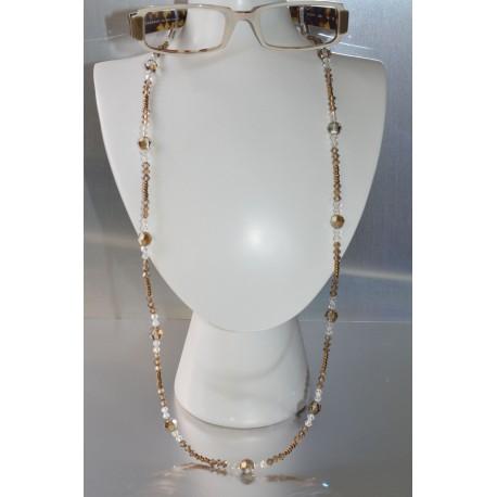 Cordon lunettes light colorado topaz satin-crystal moonlight