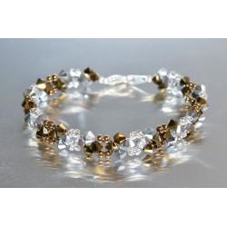 Bracelet cristal Swarovski crystal dorado 2x-crystal comet argent 2x