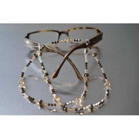 Cordon lunettes crystal metallic gold 2x-crystal golden shadow